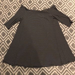 NWT Old Navy Off Shoulder Size XL  Striped Dress